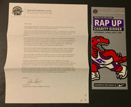1996 Toronto Raptors NBA Basketball Inaugural Season Charity Dinner Invitation +