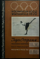 1936 Winter Olympic Games Program Garmisch-Partenkirchen, Germany Rare Vintage