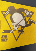 Load image into Gallery viewer, Pittsburgh Penguins NHL Hockey Pennant Vintage Sports Full Size Sharp Tip