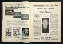 Load image into Gallery viewer, 1940 Chicago Stadium Hockey Program Montreal Canadiens vs Chicago Blackhawks NHL