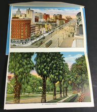 Load image into Gallery viewer, 1940s New Orleans Postcard Foldout 20 Different Cards City Park Stadiums ++