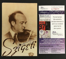 Load image into Gallery viewer, Joseph Szigeti Famed Violinist Autographed Postcard Signed At 1941 Concert JSA