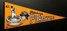 Load image into Gallery viewer, 1970's Three Rivers Stadium MLB Pittsburgh Pirates Baseball Pennant Full Size