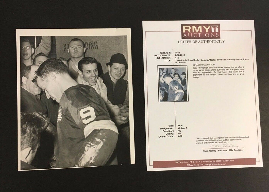 1963 Gordie Howe NHL Hockey Press Photo Detroit Red Wings Vintage Original