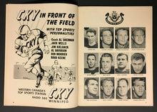Load image into Gallery viewer, 1956 CFL Football Program Winnipeg Blue Bombers vs British Columbia Lions VTG