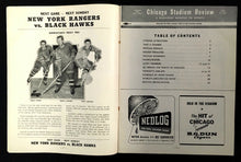 Load image into Gallery viewer, 1950 Chicago Stadium Hockey Program Boston Bruins vs Chicago Blackhawks NHL
