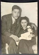 1939 Type 1 Original Photo Joe Louis & Wife Day After John Henry Lewis Fight