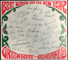 Load image into Gallery viewer, 1967 Greensboro Generals Hockey Christmas Card Facsimile Signatures ECHL NHL