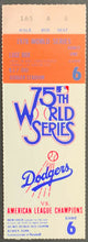 Load image into Gallery viewer, 1978 Dodger Stadium World Series Ticket Game 6 New York Yankees Clinch Dodgers