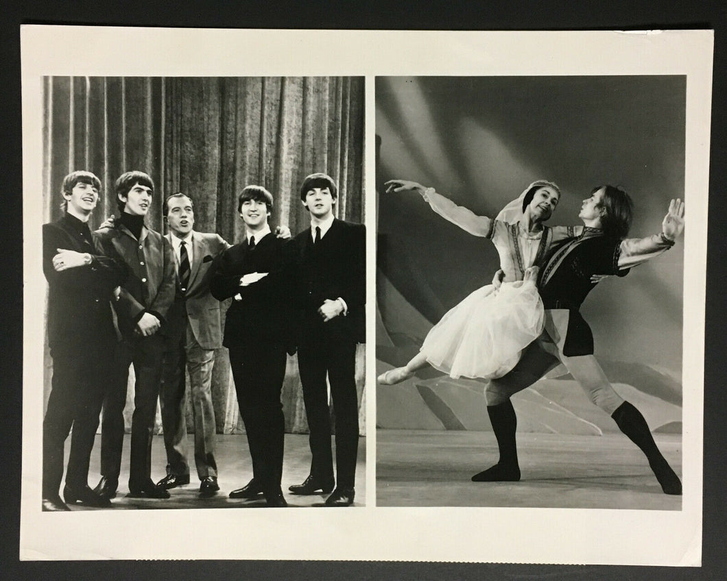 1960s The Beatles Composite Studio Issued Photo Ed Sullivan Show CBS Lennon