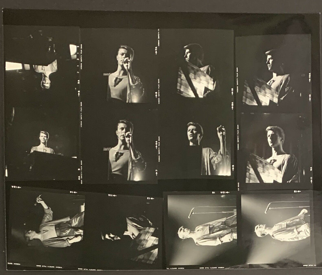 David Bowie Photo Contact Sheet 1970's O'Keefe Centre Concert Vintage Music