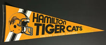 Load image into Gallery viewer, 1980's CFL Football Pennant Hamilton Tiger Cats Eastern Division Champs 28""