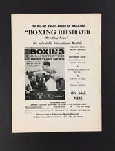 Load image into Gallery viewer, 1965 George Chuvalo Fight Program Royal Albert Hall Joe Bygraves Unscored Boxing