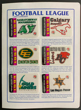 Load image into Gallery viewer, 1994 CFL Football League Calling Card Collection 12 Teams + Envelope Vintage
