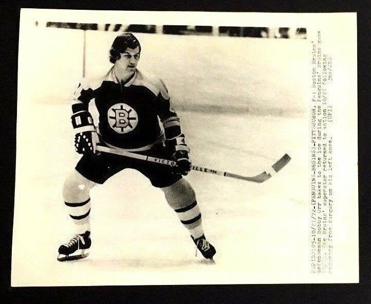 Bobby Orr 1972 UPI Press Photo Original Boston Bruins Vtg NHL Hockey