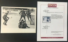 Load image into Gallery viewer, 1961 Photo Canada Scoring On USA Ice Hockey Championships Trail Smoke Eaters LOA