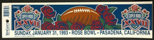 Load image into Gallery viewer, 1993 Super Bowl XXVII NFL Football Bumper Sticker Car Decal Rose Bowl California