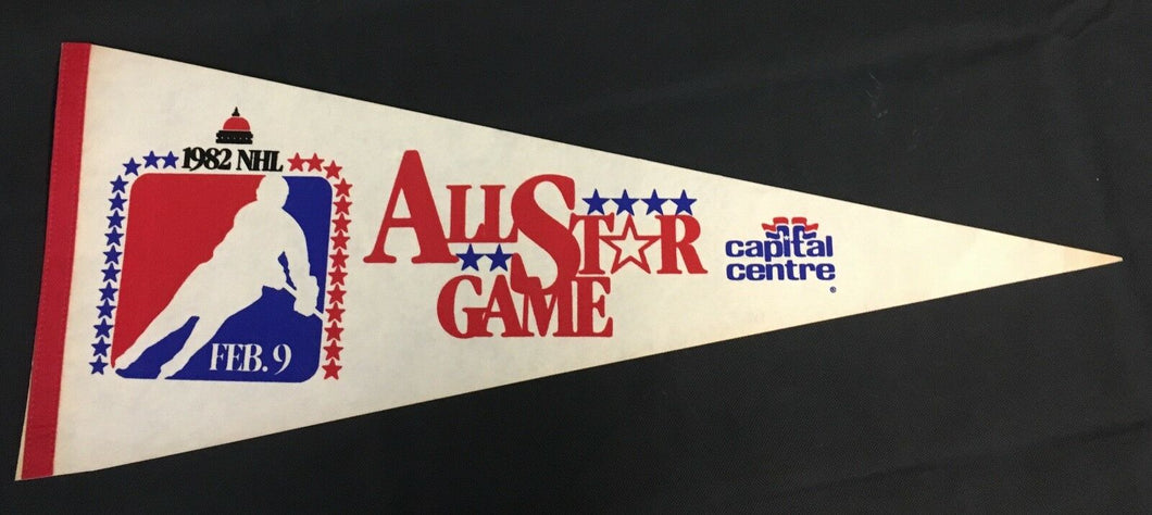1982 NHL Hockey All Star Game Pennant Capital Centre Feb 9 USA Full Size 29