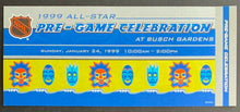 Load image into Gallery viewer, 1999 NHL All Star Game Media VIP Program Pre-Game Ticket + Card Gretzkys Last