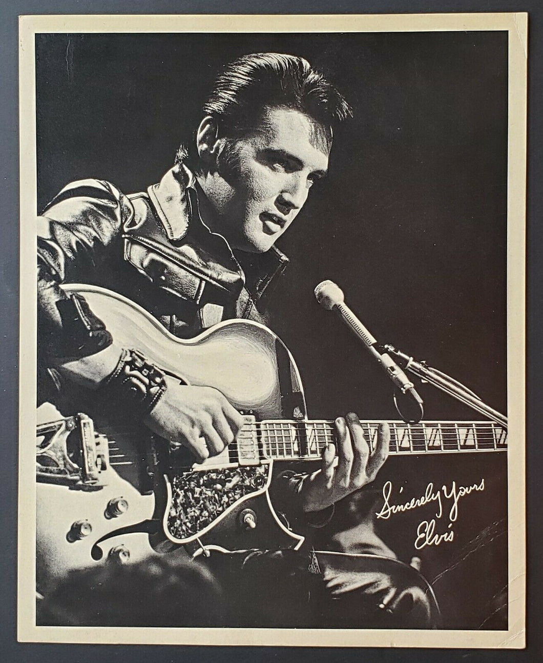 1969 Elvis Presley Vintage Promo Photo Card For Record Stores - King Of Rock