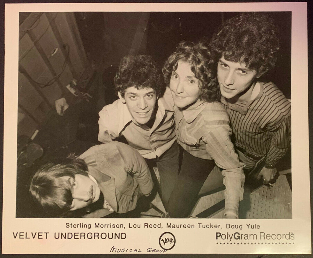 1968 Velvet Underground Early Inluential Rock Band Vintage Studio Photo Warhol