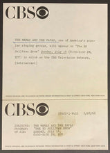 Load image into Gallery viewer, 1969 The Mamas And The Papas CBS Studio Issued Photo Iconic Hippie Rock Band