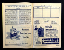 Load image into Gallery viewer, 1958 Maple Leaf Gardens NHL Hockey Program VTG Leafs vs Rangers Bert Olmstead