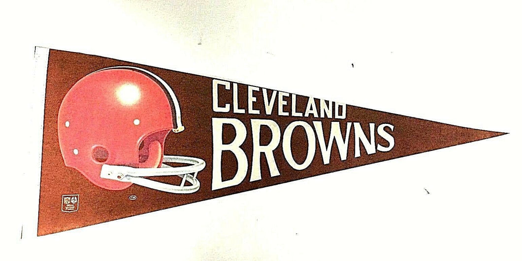 1970 Cleveland Browns Pennant NFL Football 3D Helmet Full Size 29