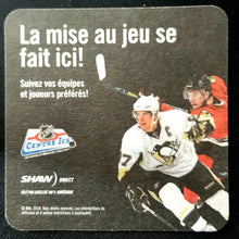 Load image into Gallery viewer, 2010 Coaster Jonothan Toews Sidney Crosby Hockey NHL Center Ice Promotion