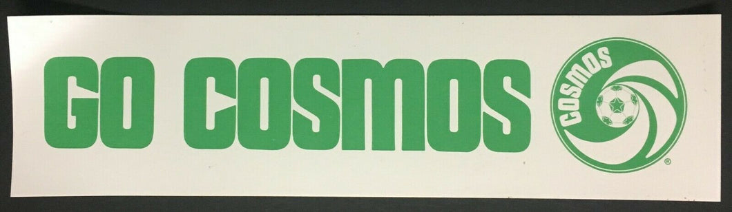 Vintage NASL New York Cosmos Soccer Bumper Sticker Decal Football Club Unused