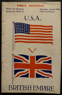 1936 Program Post-Olympics Program USA Great Britain Track Meet Gold Medalists