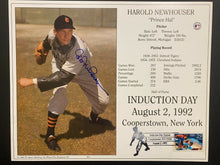 Load image into Gallery viewer, 1992 Cooperstown Baseball HOF MLB Harold Newhouser Autographed Signed Photo