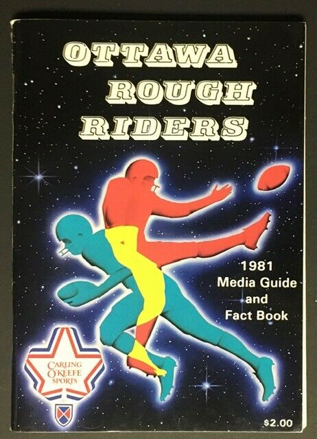 1981 Ottawa Rough Riders CFL Football Media Guide Fact Book Vintage