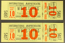 Load image into Gallery viewer, Vintage 1953 Int'l Amphitheatre Wrestling General Admission Ticket x2 Chicago