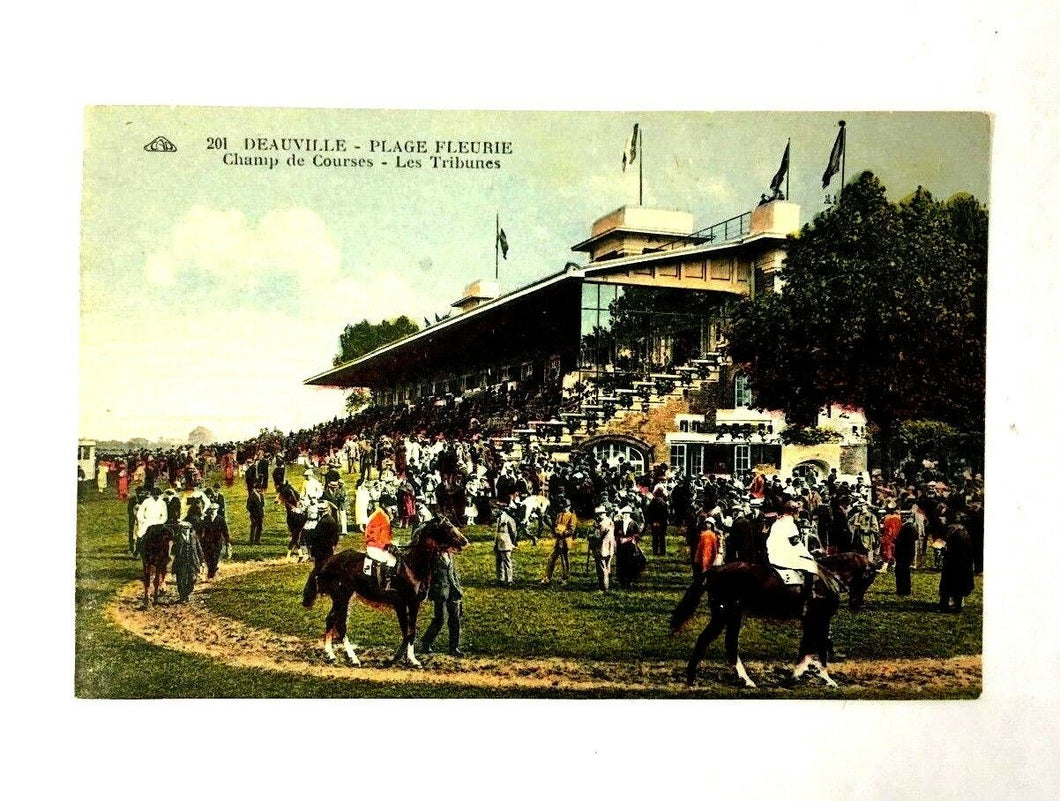 1900 Deauville Famous French Race Track Postcard Vintage Horse Racing Unused
