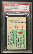 Load image into Gallery viewer, 1966 World Series Ticket Game 4 Stub PSA Authentic Baltimore Orioles LA Dodgers