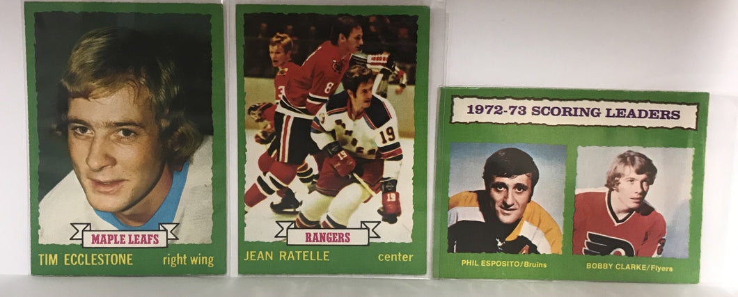 1973/74 O-Pee-Chee Hockey Cards - Lot of 3 - #58