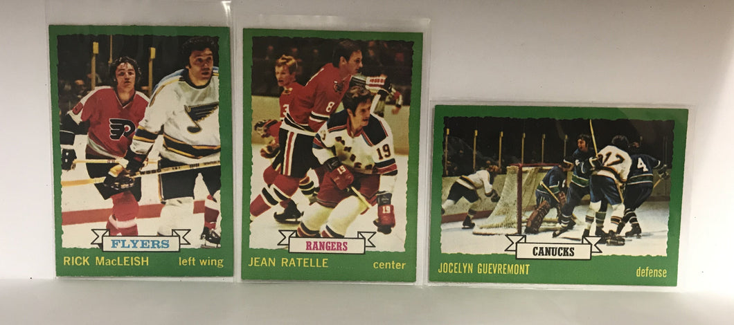 1973/74 O-Pee-Chee Hockey Cards - Lot of 3 - #61