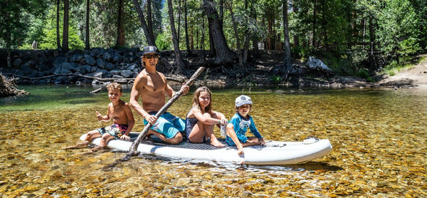 paddle boarding for whole family