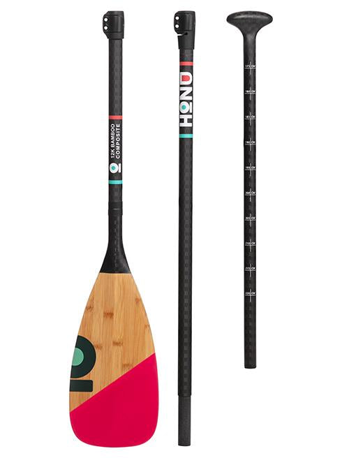 Honu SUP Paddle Bright Coral Evolution Bamboo