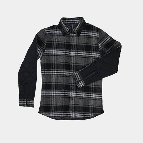 Heavy Quilt Button Up - Black