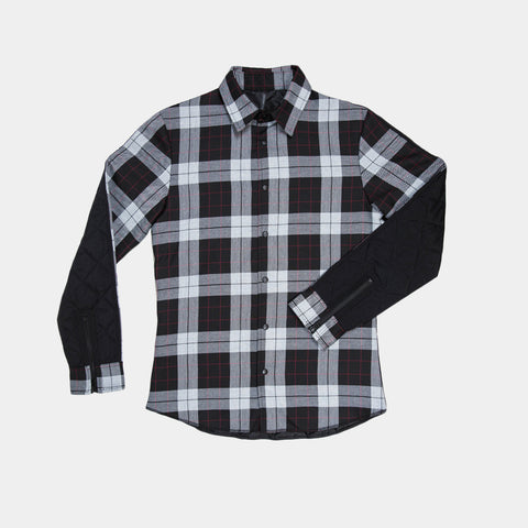 Heavy Quilt Button Up - Grey