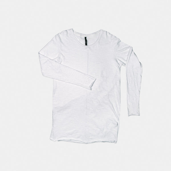 LONG SLEEVE SLUB / WHITE