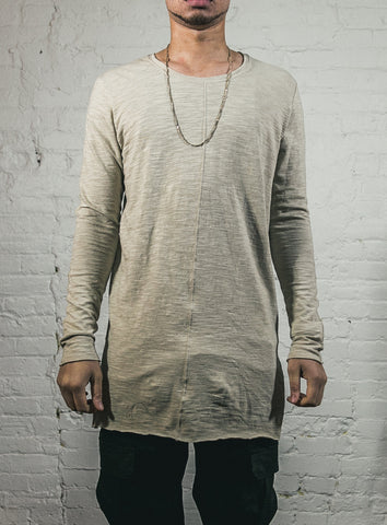 LONG SLEEVE SLUB / SAND