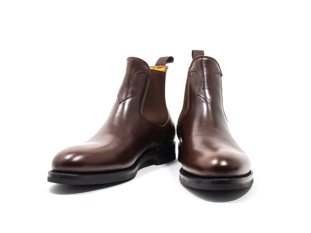 CHELSEA BOOT DARK BROWN PULL-UP