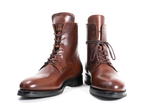 LACE-UP BOOT CHESTNUT PULL-UP