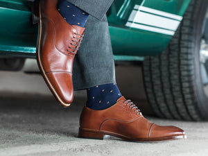 DRESS SHOE COGNAC CALF