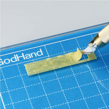"Load image into Gallery viewer, GodHand GCM-B5-B Glass Cutter Hobby Cutting Mat 6"" x 9"""