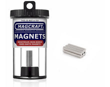 "Load image into Gallery viewer, MAGCRAFT - 1/8""x1/32"" Rare Earth Disc Magnets (150)"