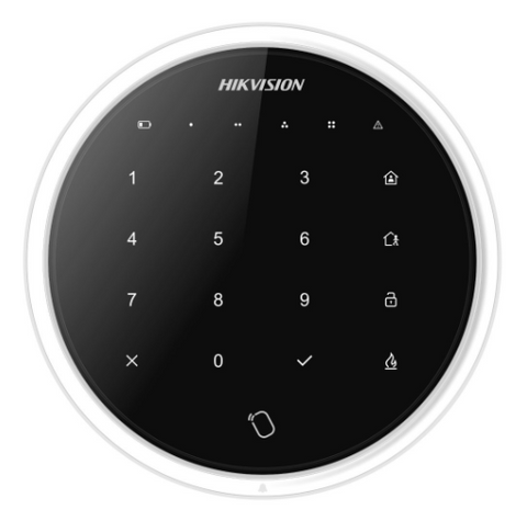 *SpOrd* Hikvision Wireless Touchscreen Keypad to suit Axiom Hub, Two Way, Black